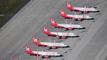 Heben nicht mehr ab: die Flugzeuge von Air Berlin