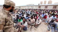 Eines der Haftzentren für Flüchtlinge in Libyen (Archivbild aus dem August 2016)