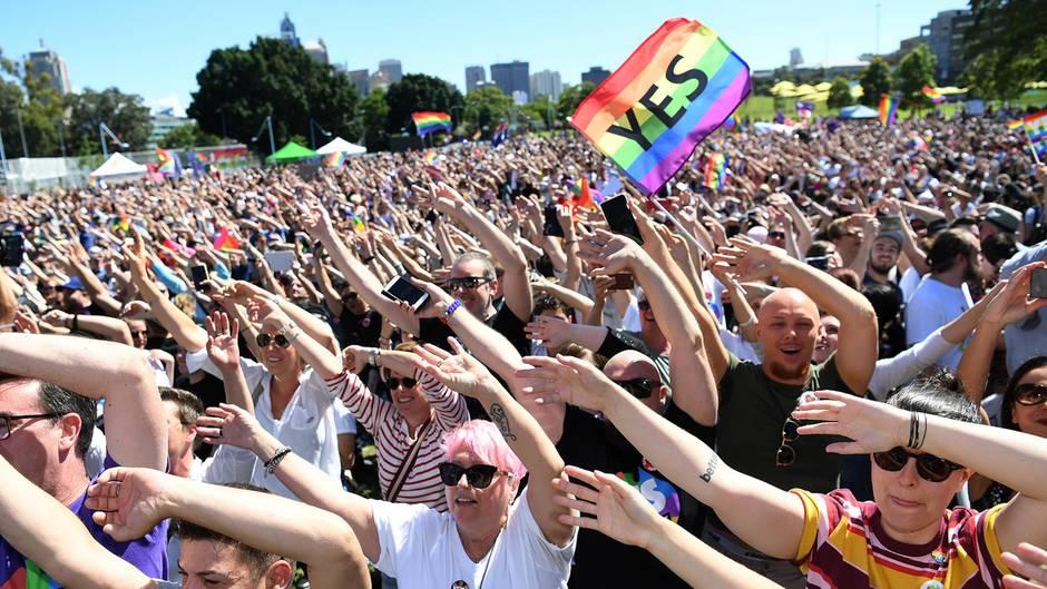 Australien: mehr als 60% stimmen für Ehe für Alle