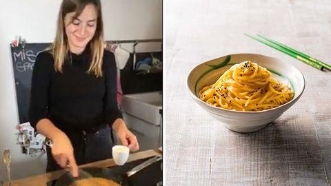 """""""Meine japanische Küche"""": Hier kocht unsere Genussredakteurin in 15 Minuten Miso-Spaghetti"""