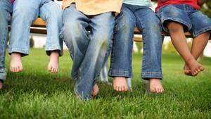 Gegen Grasflecken in der Kleidung helfen Essigessenz, Zitrone, Spiritus oder Glycerin