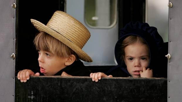Kinder der Amish-Gemeinde in Pennsylvania (Archivbild)