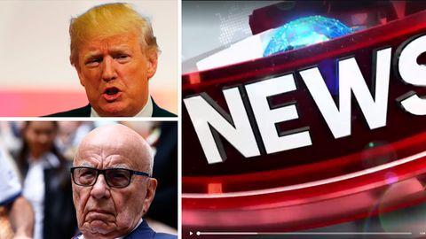 US-Präsident Donald Trump (o.l.) kann sich auf Unterstützung von Rupert Murdochs Fox News verlassen