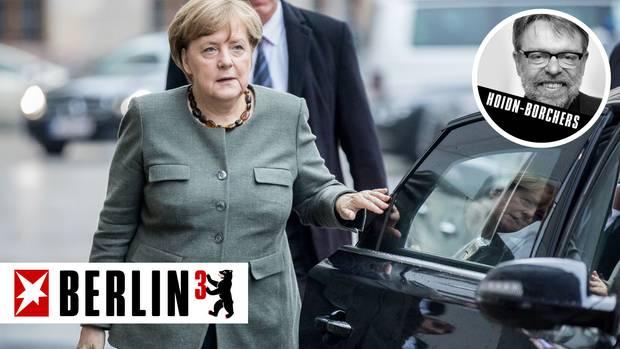 Angela Merkel Berlin hoch drei