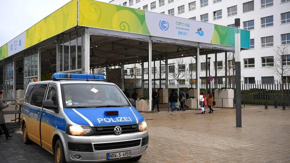 Der Eingang zur Weltklimakonferenz in Bonn