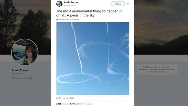 US-Kampfjet-Pilot zeichnet riesigen Penis an den Himmel
