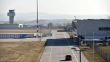 Wenig Betrieb auf dem Flughafen Kassel Kalden
