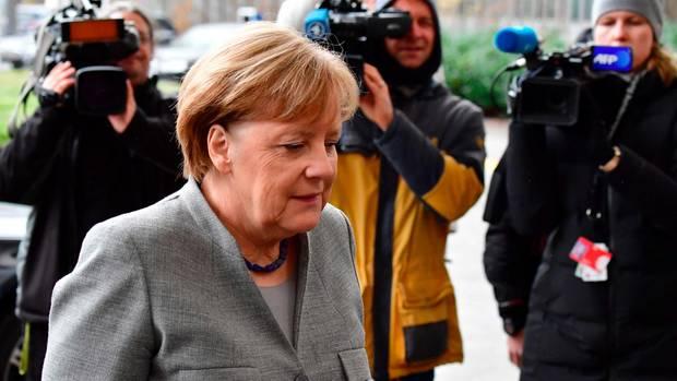 Bundeskanzlerin Angela Merkel ging ohne Statement in die nächste Sondierungsrunde