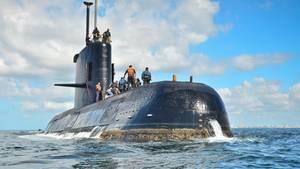 Eine undatierte Aufnhame zeigt das seit Tagen verschollene U-Boot San Juan