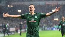 Werder Bremen gewinnt - Max Kruse jubelt