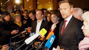 Christian Lindner erklärt den Ausstieg der FDP aus den Jamaika-Sondierungen