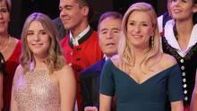 Stefanie Hertel tritt mit ihrem Vater Eberhard und ihrer Tochter Johanna auf