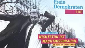 FDP Christian Lindner Wahlslogan