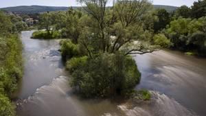 Nachrichten aus Deutschland: Eine Luftaufnahme zeigt die Fulda (Symbolbild)