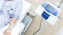 Patient bei der Chemotherapie
