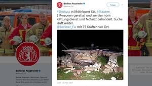 News: Zweistöckiges Haus in Berlin eingestürzt – Kind schwer verletzt