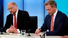 Wollen beide aktuell nicht regieren: SPD-Chef Martin Schulz und FDP-Vorsitzender Christian Lindner