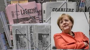 Die Kommentatoren der europäischen Zeitungen tun sich schwer damit, sich eine stabile EU ohne Angela Merkel vorzustellen.