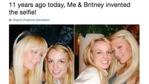 Paris Hilton und Britney Spears auf zwei Selfie-Schnappschüssen