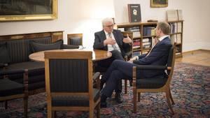 Gespräch nach dem Scheiternder Jamaika-Sondierung: Bundespräsident Steinmeier (l.) und FDP-Chef Lindner