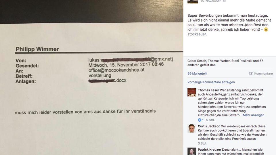 Mail an Restaurantbesitzer: Unverschämte Bewerbung empört das Netz
