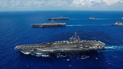 US-Flugzeugträger Ronald Reagan: Dorthin soll der Flieger unterwegs gewesen sein, als er vor Japan ins Meer stürzte