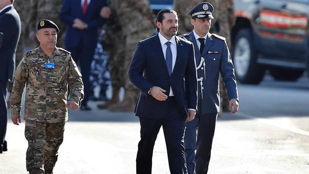 Saad Hariri feiert mit dem Besuch einer Militärparade im Libanon den 74. Jahrestag der Unabhängigkeit seines Landes