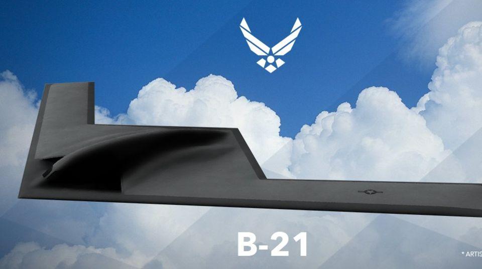 Auf den Computer-Bildern erinnert die B-21 vor allem an den Vorgänger, die B-2.