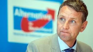 Björn Höcke, Vorsitzender der AfD-Fraktion im Thüringer Landtag, hat unbequeme Nachbarn