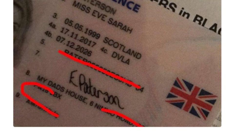 Der Führerschein einer Britin