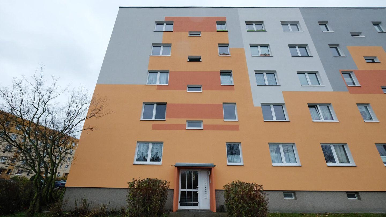 Ein Mehrfamilienhaus in Leipzig, wo ein Mann unter dem Verdacht, dem IS anzugehören, festgenommen wurde