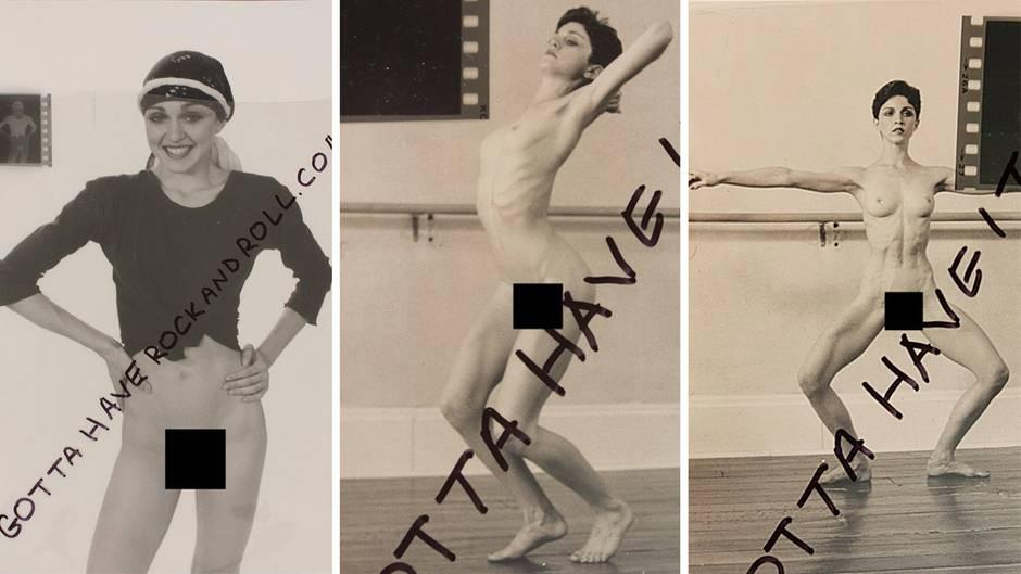 Aktaufnahmen werden versteigert: Hier posiert die 18-jährige Madonna für Nacktfotos