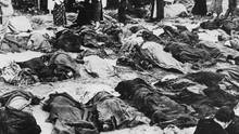 Eroberung von Lemberg durch die Wehrmacht am 30. Juni 1941. Massenerschießung jüdischer Bürger unmittelbar nach Einnahme der Stadt durch Hilfstruppen ukrainischer Nationalisten.