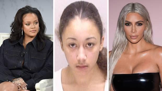 Popstar Rihanna (l.) und Kim Kardashian (r.) setzen sich für eine Freilassung von Cyntoia Brown ein