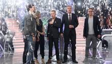 """Günther Jauch mit seinen Kandidaten beim Promi-Special von """"Wer wird Millionär?"""""""