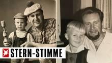 Klein-Franky mit seinem Vater