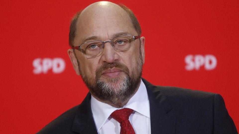 """Martin Schulz sieht bei einem möglichen Schwenk in Richtung Große Koalition nicht gut aus - war der SPD-Chef doch bisher ein vehementer Gegner einer Neuauflage der """"Groko"""""""