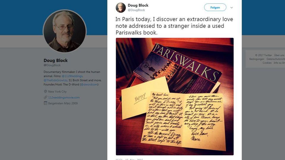Auf Twitter sucht Dough Block nach Menschen, denen Henris Handschrift bekannt vorkommt
