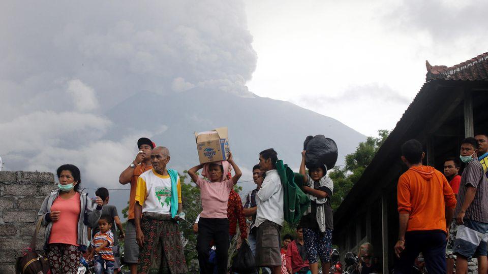 Vulkan - Bali - Mount Agung - Ausbruch - Flucht