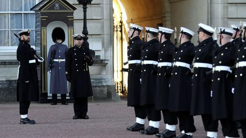 Wachablösung vor dem Buckingham Palast