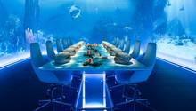 Sublimotion, Ibiza  Dieses Restaurant zählt wirklich zum teuersten Restaurant der Welt, denn für ein 20-Gänge-Menü muss man 1500 Euro hinlegen. Kein Schnäppchen. Der Sternekoch Paco Roncero verbindet Essen, Kunst und Technologie.