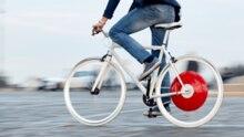 In der Stadt produziert das Copenhagen Wheel eine merkliche Unterstützung.