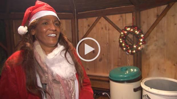 Naddel auf dem Weihnachtsmarkt