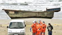 In diesem simplen Holzschiff wurden die Leichen in Japan entdeckt. Vermutlich stammt es aus Nordkorea.