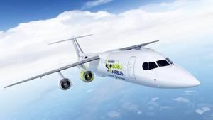 Entwurf des Hybrid-Testflugzeug Airbus e-FanX