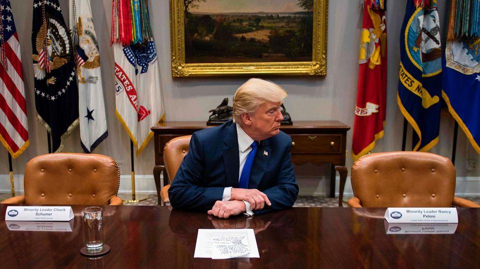 Donald Trump im Roosevelt Room