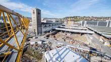 Baustelle des neuen Hauptbahnhofs Stuttgart 21