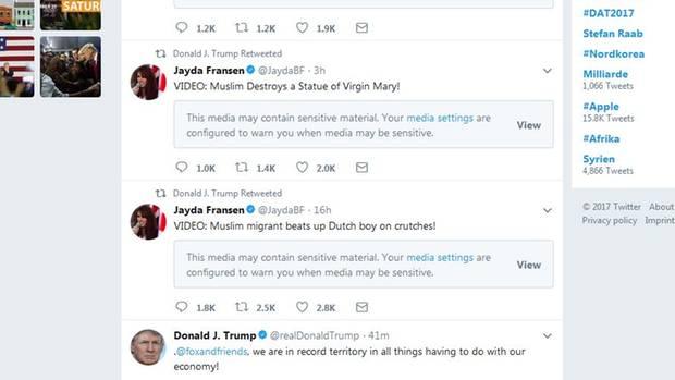 Tweet Trump Fransen II