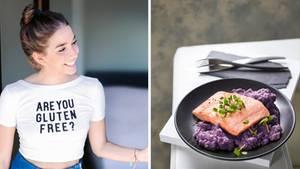 Nathalie Gleitmans Speiseplan ist trotz Unverträglichkeiten alles andere als eintönig- es gibt beispielsweise gebratenen Fisch mit Kokosgemüse-Püree.