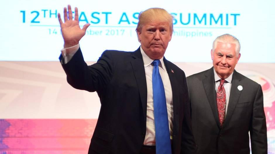 Es brodelte schon länger: Donald Trump will Rex Tillerson offenbar als Außenminister entlassen